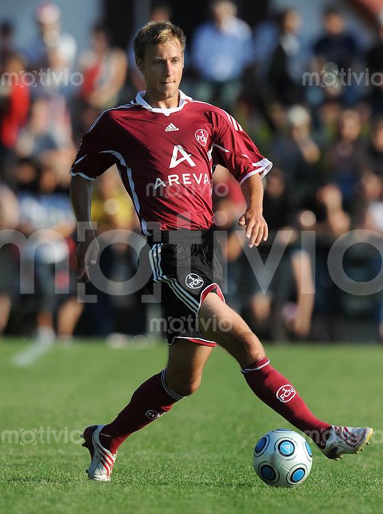 FUSSBALL     1. BUNDESLIGA     SAISON 2009/2010     05.07.2009 Testspiel DJK Weingarts - 1 FC Nuernberg  Einzelaktion  Dominik Reinhardt  ( 1 FC Nuernberg)