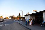 Jocko's Steak House in Nipomo, CA. People waiting in line for dinner.