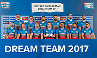 Picture by Allan McKenzie/SWpix.com - 25/09/2017 - Rugby League - Super League Dream Team 2017 - Aspire, Leeds, England - The Super League Dream Team 2017 - Back Row (l-r) - Grant Millington, Matt Parcell, Sebastine Ikahihifo, Ben Murdoch-Masala, Mike McMeeken. Fron row - (l-r) - Zak Hardaker, Greg Eden, Michael Shenton, Mark Percival, Mahe Fonua, Albert Kelly, Luke Gale.