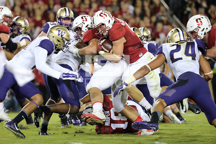 Stanford, CA -- October 24, 2015:  Stanford Cardinal defeat Washington Huskies 31-14 at Stanford Stadium.