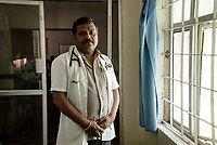 Dr. P.Chandrashekhar, Superintendent, Medak District Hospital poses for a portrait in the  Hospital in Medak, Telangana, India.