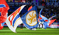 20191116 – LYON ,  FRANCE ; Flags are pictured before the women's soccer game between Olympique Lyonnais and PARIS SG on the 9th matchday of the French Women's first league , D1 of the 2019-2020 season , Saturday 16 th November 2019 at the Groupama stadium in Lyon , France . PHOTO SPORTPIX.BE   SEVIL OKTEM