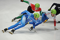 SCHAATSEN: DORDRECHT: Sportboulevard, Korean Air ISU World Cup Finale, 11-02-2012, Vladislav Bykanov ISR (39), Edoardo Reggiani ITA (42), ©foto: Martin de Jong