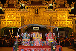 Donggang, Taiwan -- Taoist 'altar' in front of the main gate at the Donglong Temple.