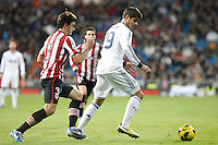 Real Madrid CF vs Athletic Club de Bilbao (5-1) at Santiago Bernabeu stadium. The picture shows Alvaro Morata and Jon Aurtenetxe. November 17, 2012. (ALTERPHOTOS/Caro Marin) NortePhoto