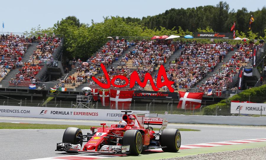 Sebastian Vettel (GER) Ferrari  at  Formula 1, Spanish Grand Prix, Barcelona.
