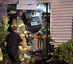 South Windsor Car Into a House