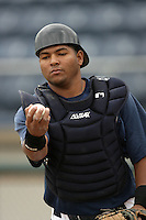 July 7 2009: Juan Fuentes of the Everett AquaSox before game against the Yakima Bears at Everett Memorial Stadium in Everett,WA.  Photo by Larry Goren/Four Seam Images