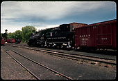 D&amp;RGW #488 K36 with box car #3669.<br /> D&amp;RGW  Chama, NM