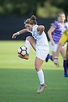 Kat McDonald (9) of the Duke Blue Devils controls the ball during first half action against the High Point Panthers at Koskinen Stadium on September 11, 2016 in Durham, North Carolina.  The Blue Devils defeated the Panthers 4-1.   (Brian Westerholt/Sports On Film)