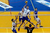 GRONINGEN - Volleybal , Lycurgus - Taurus, kampioenspoule, seizoen 2018-2019, 13-04-2019, .l17/ legt aan voor een smash