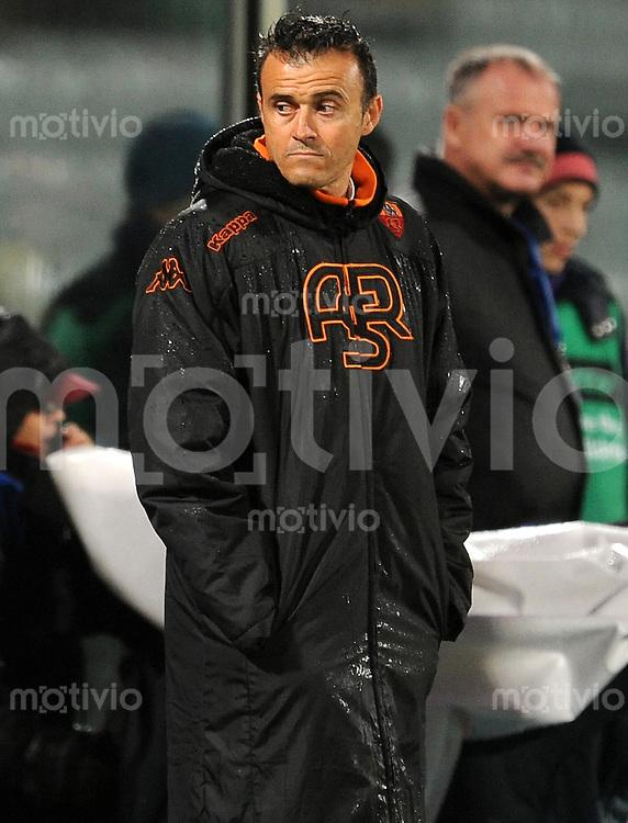 FUSSBALL INTERNATIONAL   SERIE A   SAISON 2011/2012    AC Florenz - AS Rom   04.12.2011 Trainer Luis Enrique (AS Rom)