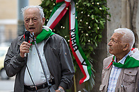 """Modesto Di Veglia & Arnaldo """"Nando"""" Cavaterra (Antifascist Partizans. Members of the Partigiani: the Italian Resistance during WWII).<br /> <br /> Rome, 04/06/2018. On 4 June 1944 the American forces took possession of Rome, that Day will be remembered as the """"Liberazione di Roma"""". Today, to mark the 74th Anniversary of that day, Rome celebrates one of his most popular areas and """"Quartiere simbolo della Resistenza"""" (District symbol of the Resistance), Centocelle (Municipio V - https://bit.ly/2esBcBX), confering the State Gold Medal (for Civil Merit) for its Antifascist Resistance."""