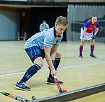 Almere - Zaalhockey  SCHC-Laren  . Ties Klinkhamer (laren)     TopsportCentrum Almere.    COPYRIGHT KOEN SUYK
