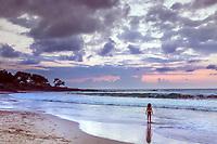 Taking in the sunset.  Sunset at Mauna Kea Beach, Big Island Of Hawaii.