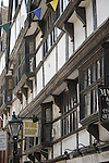 Timbered building in Rochester High Street, Mr Sapsea's house in Edwin Drood, Uncle Pumblechook's shop in Great Expectations