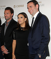 NEW YORK, NY-July 14: Joe Huff, Eva Longoria, Alexandre Ricard at Chivas Regal presents The Venture Grand Finale at Pier 59 West Side Highway in New York. NY July 14, 2016. Credit:RW/MediaPunch
