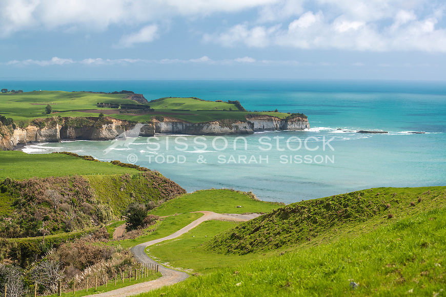 Whitecliffs Walkway, Coastal Taranaki, North Island, New Zealand - stock photo, canvas, fine art print