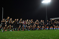 1st August 2020, Hamilton, New Zealand;  Chiefs player perform a haka for Aaron Cruden.<br /> Chiefs versus Crusaders, Super Rugby Aotearoa, FMG Waikato Stadium, Hamilton, New Zealand.