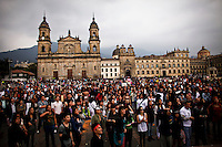 People take part in a march supporting prostitution in Bolivar square in Bogota, Colombia. 25/02/2012.  Photo by Eduardo Munoz Alvarez / VIEWpress.