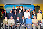 The 1951 all Ireland winning team at the launch of Fr Tom Looney's book 'King in a Kingdom of Kings' biography of legendary Kerry manager Dick Fitzgerald in Dr Crokes clubhouse on Friday evening was front row l-r: John Moynihan, Liam Murphy, Michael Looney, John O'Leary, Michael O'Callaghan, Sean Myers. Middle row: Denis Fleming, Brendan Cronin representing his father PJ Cronin, Gearoid O'Donoghue, Pat Joe Teahan, Eoin O'Leary, Michael O'Leary, Sean O'Shea, Gene Moriarty, Paddy O'Shea, Pa O'Brien, Fr Tom Looney and Domo Lyne representing Tadghie Lyne.