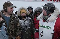 Finish of junior Iditarod  Ben Lyon