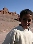 Young Moroccan boy near Quarzazate in Morocco.