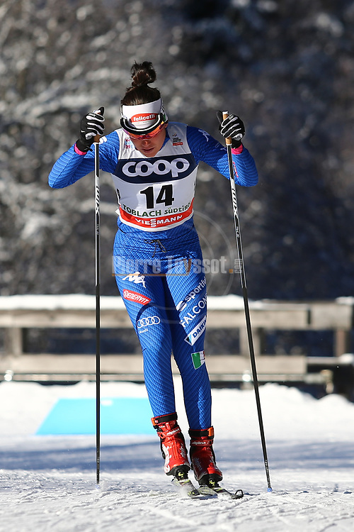Cross Country Ski World Cup 2018 FIS in Dobbiaco, Toblach, on December 16, 2017; Ladies 10 Km Interval Start Free technique ; Giulia Stuerz (ITA)<br /> &copy; Pierre Teyssot / Pentaphoto