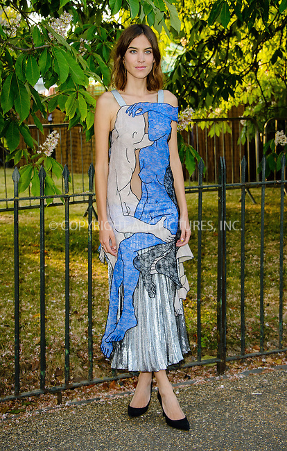 WWW.ACEPIXS.COM<br /> <br /> July 2 2015, New York City<br /> <br /> Alexa Chung arriving at The Serpentine Gallery summer party at The Serpentine Gallery on July 2, 2015 in London, England<br /> <br /> By Line: Famous/ACE Pictures<br /> <br /> <br /> ACE Pictures, Inc.<br /> tel: 646 769 0430<br /> Email: info@acepixs.com<br /> www.acepixs.com