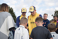 Essex Players sign autographs at the end of the fixture between Upminster CC vs Essex CCC, Benefit Match Cricket at Upminster Park on 8th September 2019