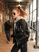 WWW.ACEPIXS.COM<br /> <br /> January 16, 2017 New York City<br /> <br /> Model Gigi Hadid out and about in Manhattan on January 16 2017 in New York City.<br /> <br /> <br /> Please byline: Curtis Means/ACE Pictures<br /> <br /> ACE Pictures, Inc.<br /> www.acepixs.com, Email: info@acepixs.com<br /> Tel: 646 769 0430