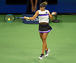 September 1,2019:   Madison Keys (USA) loses to Elina Svitolina (UKR) 7-6, 6-4, at the US Open being played at Billie Jean King National Tennis Center in Flushing, Queens, NY.  ©Jo Becktold/CSM