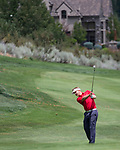 Billy Hurlay swings during the Barracuda Championship PGA golf tournament at Montrêux Golf and Country Club in Reno, Nevada on Friday, July 26, 2019.