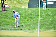 Bethesda, MD - July 2, 2017: Johnathan Randolph hits a shot out of the grass on hole seventeen during final round of professional play at the Quicken Loans National Tournament at TPC Potomac at Avenel Farm in Bethesda, MD.  (Photo by Phillip Peters/Media Images International)