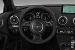 Car pictures of steering wheel view of a 2016 Audi A3  Sportback e tron 1.4T S tronic Premium Plus  5 Door Hatchback