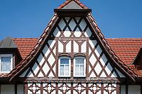 Germany, Thuringia, Schleusingen: half-timbered house in town centre - detail | Deutschland, Thueringen, Schleusingen im Henneberger Land: Fachwerkhaeuser im Zentrum - Detail