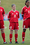 Diana Matheson, of Canada, on Sunday June 26th, 2005, during an international friendly soccer match at Virginia Beach Sportsplex in Virginia Beach, Virginia. The United States won the game 2-0.