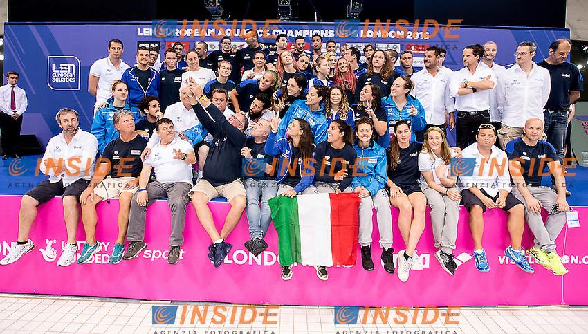 Team ITA Italy Len Trophy<br /> London, Queen Elizabeth II Olympic Park Pool <br /> LEN 2016 European Aquatics Elite Championships <br /> Day 7 swimming Medals<br /> Day 14 22-05-2016<br /> Photo Giorgio Scala/Deepbluemedia/Insidefoto