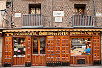 Botín Restaurant, Madrid, Spain . Oldest restaurant in the world, 1725.