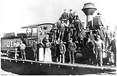 D&amp;RG locomotive #218 at Chama with the roundhouse crew.<br /> D&amp;RG  Chama, NM  1905