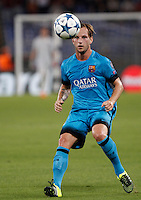 Calcio, Champions League, Gruppo E: Roma vs Barcellona. Roma, stadio Olimpico, 16 settembre 2015.<br /> FC Barcelona&rsquo;s Ivan Rakitic in action during a Champions League, Group E football match between Roma and FC Barcelona, at Rome's Olympic stadium, 16 September 2015.<br /> UPDATE IMAGES PRESS/Isabella Bonotto<br /> <br /> *** ITALY AND GERMANY OUT ***