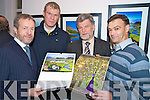 Sean Kelly, MEP, Diarmuid Murphy, Tony Darmody, Kerry Parents and Friends and Seamus Long, Killarney Camera Club, pictured at the launch of the Killarney Lions club calendar in association with the Killarney Camera Club, in the McBride Art Gallery, Killarney, on Friday night.