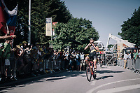 Adrien Petit (FRA/Direct Energie) finishes 5th (after Peter Sagan was later disqualified/thrown out of the TdF because of irregular sprinting)<br /> <br /> 104th Tour de France 2017<br /> Stage 4 - Mondorf-les-Bains &rsaquo; Vittel (203km)