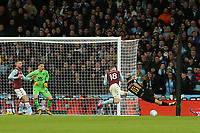 Sergio Aguero of Manchester City shoots into the side net during Aston Villa vs Manchester City, Caraboa Cup Final Football at Wembley Stadium on 1st March 2020