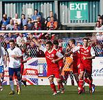 Brian Allison celebrates his goal for Stirling Albion