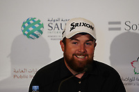 Shane Lowry (IRL) giving an interview during the Pro-Am of the Saudi International at the Royal Greens Golf and Country Club, King Abdullah Economic City, Saudi Arabia. 29/01/2020<br /> Picture: Golffile | Thos Caffrey<br /> <br /> <br /> All photo usage must carry mandatory copyright credit (© Golffile | Thos Caffrey)
