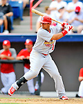 7 March 2012: St. Louis Cardinal outfielder Jon Jay in action against the Washington Nationals at Space Coast Stadium in Viera, Florida. The teams battled to a 3-3 tie in Grapefruit League Spring Training action. Mandatory Credit: Ed Wolfstein Photo