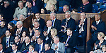 Rangers directors have a round of applause on the second minute to mark a year after the passing of Sandy Jardine