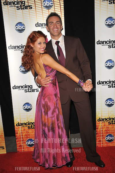 Kurt Warner & Anna Trebunskaya at the Season 11 premiere of ABC's Dancing With The Stars at CBS Television City, Los Angeles..September 20, 2010  Los Angeles, CA.Picture: Paul Smith / Featureflash