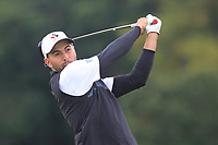 Joey Savoie of Team Canada on the 8th tee during Round 3 of the WATC 2018 - Eisenhower Trophy at Carton House, Maynooth, Co. Kildare on Friday 7th September 2018.<br /> Picture:  Thos Caffrey / www.golffile.ie<br /> <br /> All photo usage must carry mandatory copyright credit (&copy; Golffile | Thos Caffrey)